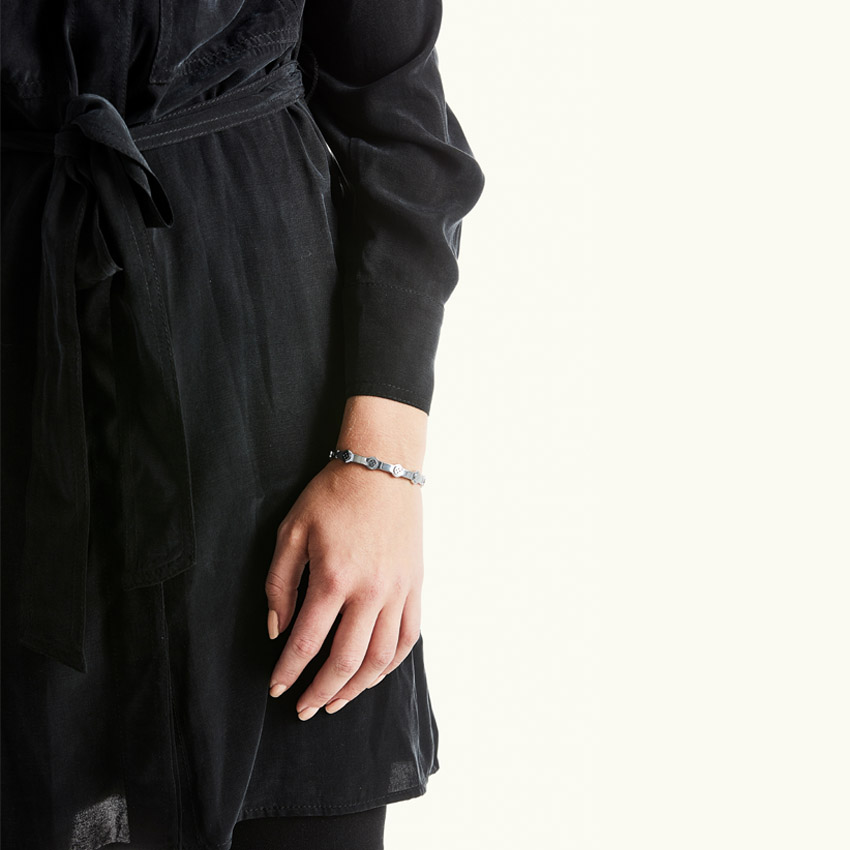Bovou Button bracelet silver
