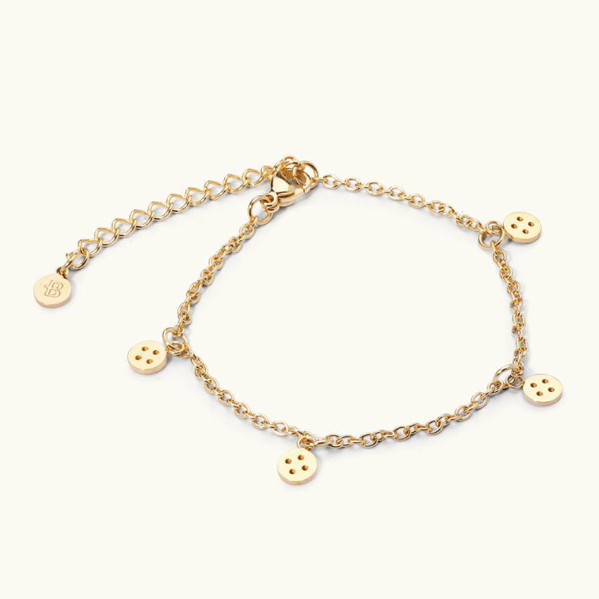 Button chain gold