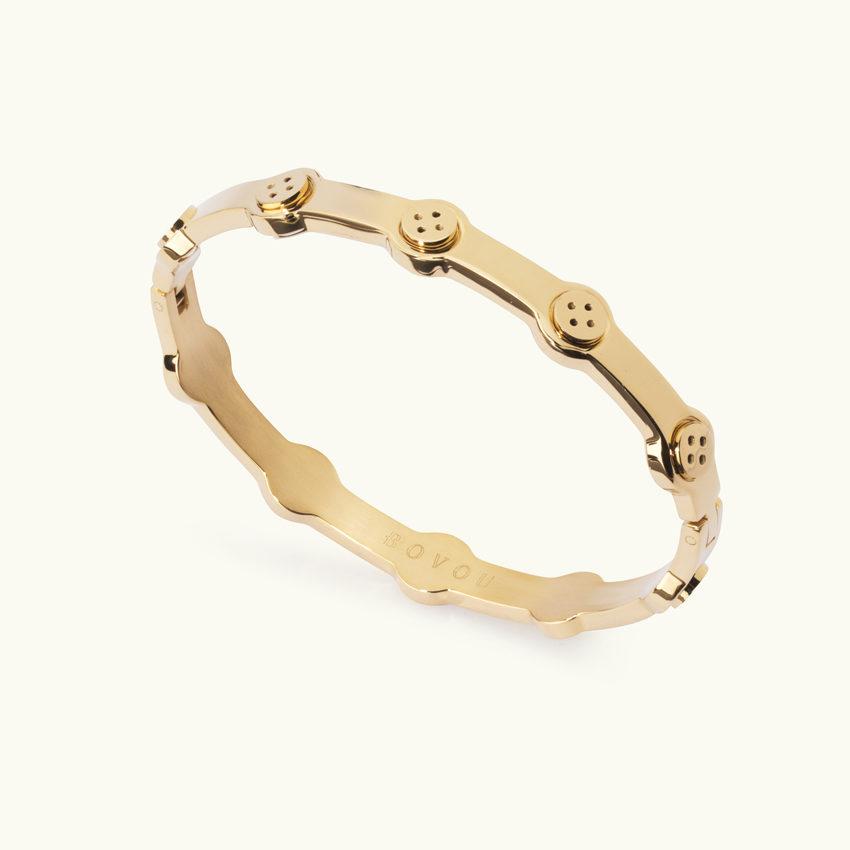 Button Bracelet gold